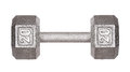 Fitness exercise equipment dumbbell weights isolated Royalty Free Stock Photo