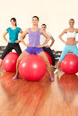 Fitness exercises with ball Royalty Free Stock Photo