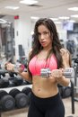 Fitness-Female Lifting Weights Royalty Free Stock Photo