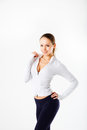Fitness girl, full length portrait sport young woman with perfect body Royalty Free Stock Photo