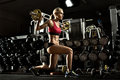 Fitness girl in gym Royalty Free Stock Photo