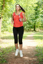 Fitness girl jogging Stock Image