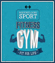 Fitness gym design vector illustration Stock Images