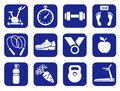 Fitness, gym, monochrome icons.