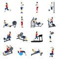 Fitness Gym Training Icons Set Royalty Free Stock Photo
