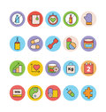 Fitness and Health Colored Vector Icons 5 Royalty Free Stock Photo