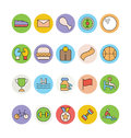 Fitness and Health Colored Vector Icons 4 Royalty Free Stock Photo