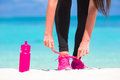 Fitness and healthy lifestyle concept with female Royalty Free Stock Photo