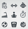 Fitness icon set vector illustration of on light background Royalty Free Stock Image