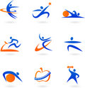 Fitness icons - 2 Royalty Free Stock Photo