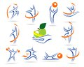 Fitness icons and elements colection this is file of eps format Stock Image