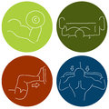 Fitness icons an image of a muscle building Stock Photography