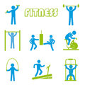 Fitness icons over white background illustration Stock Photo