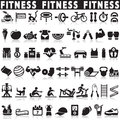 Fitness icons vector set icons