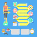 Fitness Infographic Elements