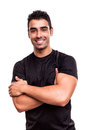 Fitness instructor with arms crossed Stock Image