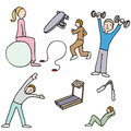 Fitness items an image of a people using Royalty Free Stock Photography