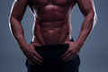 Fitness man torso close up of Royalty Free Stock Image