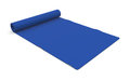 Fitness mat one blue on white d render Stock Image