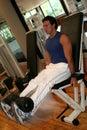 Fitness Men Leg Extension Royalty Free Stock Photo