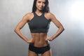 Fitness Model Posing In Studio...