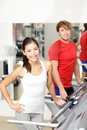Fitness people in gym Royalty Free Stock Photography