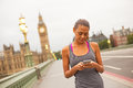 Fitness phone app Royalty Free Stock Photo