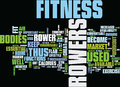 Fitness Rowers Burn Flab Text Background Word Cloud Concept