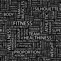 Fitness seamless pattern word cloud illustration Stock Images