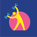 Fitness sign vector symbol sport activity logo for a club sports events blog youth forum Stock Photo
