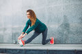Fitness sport girl in the street Royalty Free Stock Photo
