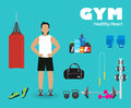 Fitness sport gym Royalty Free Stock Photo