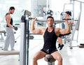 Fitness sport gym group of people training Stock Image