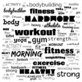 Fitness, sport, gym,lifestyle health concept,Word and Icon Cloud,T-shirt design,Creative poster design,Motivation,illustration,