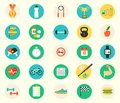Fitness sport and health colorful flat design