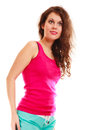 Fitness sport woman girl after workout gym isolated. Active life.