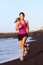 Fitness sport woman running Stock Images