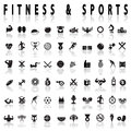 Fitness and sports Icons Royalty Free Stock Photo