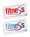 Fitness stickers. Royalty Free Stock Image