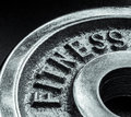 Fitness text close up Stock Photo