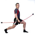 Fitness training with a flexibar Stock Photos