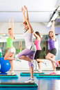 Fitness - Training and workout in gym Royalty Free Stock Image