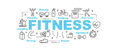 Fitness vector banner