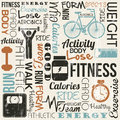Fitness vector grunge background vintage style illustration Royalty Free Stock Photos