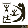 Fitness vector icons over white background illustration Royalty Free Stock Image