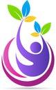 People, wellness, logo, health care, spa, fitness vector symbol icon design.