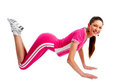 Fitness woman doing exercise Stock Photos