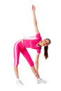 Fitness woman doing exercise Royalty Free Stock Photo