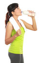 Fitness woman drinking water Royalty Free Stock Image