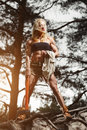 Fitness woman lumberjack Royalty Free Stock Photo